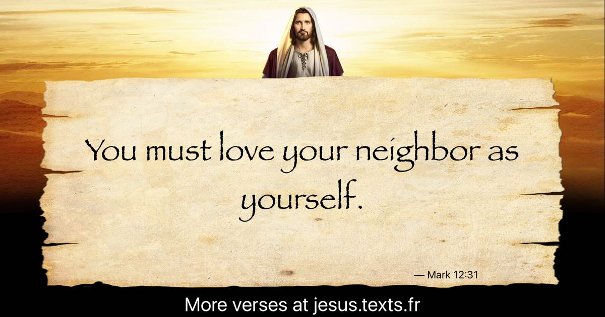 """A quote from Modern Jesus: """"You must love your neighbor as ..."""